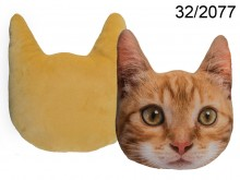 Cat Face Cushion - Ginger