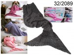 Grey Mermaid Blanket 180 cm