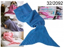 Blue Mermaid Blanket 180 cm