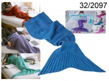Blue Mermaid Blanket 140 cm