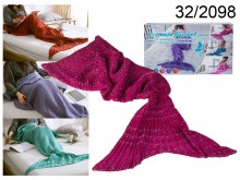 Crimson Mermaid Blanket 140 cm