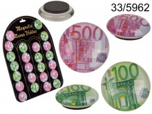 Euro Notes Glass Magnet