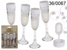 Champagne Glasses Soap Bubbles