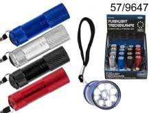 Flashlight with 9 LEDs