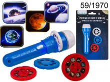 Projector flashlight - planets and space flights
