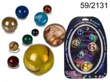 Solar system with glass balls