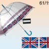 See Through Umbrella - Union Jack