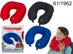 Neck Pillow with Massaging Device
