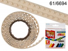 125 cm Building Block Tape - white