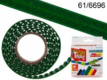 125 cm Building Block Tape - green