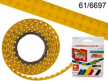 125 cm Building Block Tape - yellow