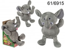 Interactive Plush Elephant with Record & Repeat ...