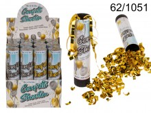 Explosion tube confetti: gold or silver