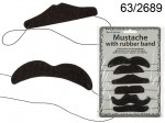 Felt Mustache on a Rubber Band