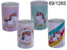 Large Unicorn Tin Money Box - 15 cm