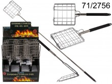 Telescopic grill grate, grate for toasting