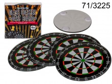 Glass pads under cups pattern Dart boards (4 ...