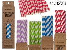 Paper drinking straws (25 pieces)