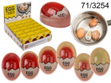 Hot egg timer for cooking eggs