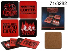 Stranger Things glass coasters - licensed product