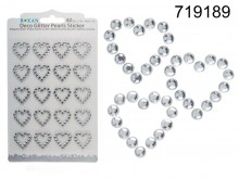 Crystal Deco Hearts - 40 pieces