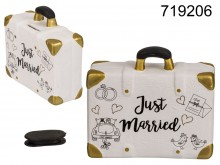 Piggy bank suitcase - Just Married
