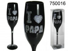 I love Papa Champagne Glass