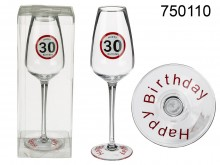 Happy Birthday Champagne Glass - 30