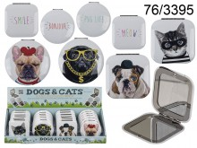 Dogs and Cats Pocket Mirror