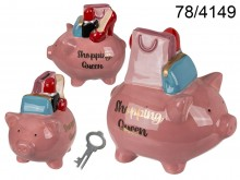 Ceramic Shopping Queen Piggy Bank