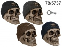 Fisherman Skull Money Box
