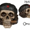 Freedom Fighter with Cigar Skull Money Box