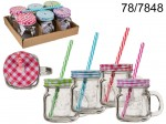 Mason Jar with a Straw - 200 ml