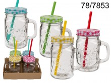 Mason Jar with a Straw