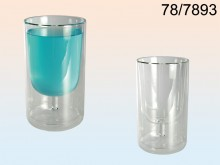 Wine Glass in Glass - 2 items