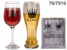 Glasses for a King & Queen pair