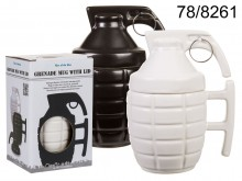 Grenade Mug with a Pin - WHITE