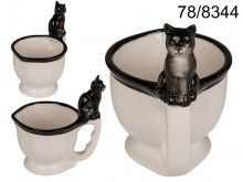 A toilet mug with a kitty