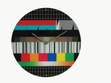 TV Test Pattern Wall Clock