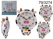 Cow children's clock - it moves eyes and torso