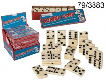 Dominoes game in a metal box