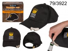 Beer King baseball cap with opener