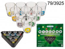 Shot glasses billiards - 10 pieces