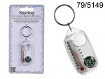 Thermometer and Compass Keychain