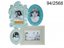 Antique Style Pastel Picture Frame for 4 Photos