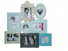 Antique Style Picture Frame for 8 Photos