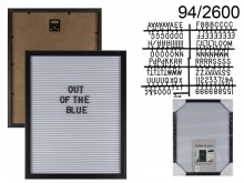 Rectangular Display Board with Letters (145 ...