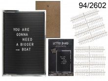 XL Rectangular Display Board with Letters (292 ...