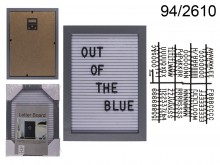 Rectangular 22x16 cm Display Board with Letters ...