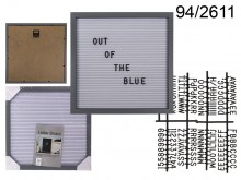 Square 30x30 cm Display Board with Letters (145 ...